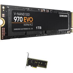 Samsung 1TB 970 EVO NVMe M.2 SSD & Wings PX1 PCIe x4 M.2 Adapter Kit