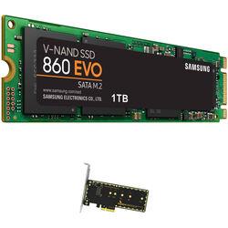 Samsung 1TB 860 EVO SATA III M.2 SSD & Wings PX1 PCIe x4 M.2 Adapter Kit
