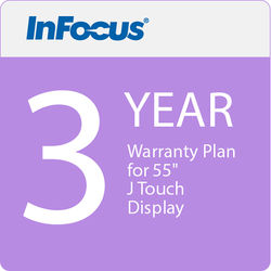 """InFocus 3 Year Warranty Plan for 55"""" J Touch Display (E Delivery)"""