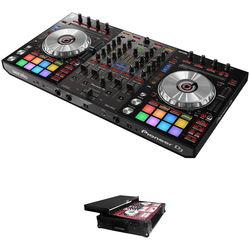 Pioneer DJ DDJ-SX3 Serato DJ Controller Kit with Flight Case with Sliding Laptop Shelf