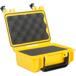 Seahorse 120 Protective Case with Foam and Metal Keyed Locks (Safety Yellow)
