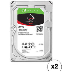 "Seagate 8TB IronWolf 7200 rpm SATA III 3.5"" Internal NAS HDD (2-Pack)"