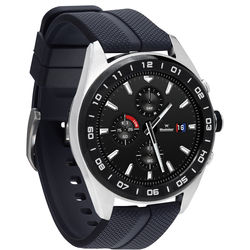 LG Watch W7 (Cloud Silver, Black Rubber Band)