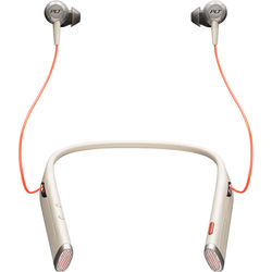 Plantronics Voyager 6200 UC Bluetooth Neckband Headset with USB Type-C Adapter (Sand)