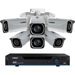 Lorex 8-Channel 4K UHD NVR with 2TB HDD and 6 4K Color Night Vision Network Bullet Cameras