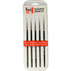 Berg Touchrite Retouching Brush Kit (5-Piece)
