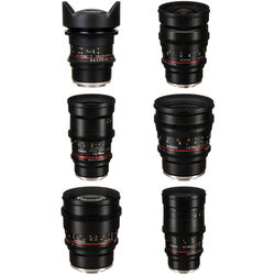 Rokinon Cine DS 6 Lens Kit with Sony E Mount