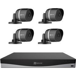 ezviz 8-Channel 4K UHD NVR with 2TB HDD & 4 4K Outdoor Night Vision Bullet Cameras