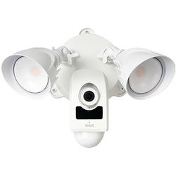 RCA HSFLC1WHA 1080p Outdoor Wi-Fi Security Floodlight Camera with Night Vision