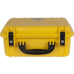 Seahorse 520 Protective Case with Metal Keyed Locks (Foam, Safety Yellow)