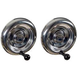 CineMilled Stainless Steel Wheels (Black Knobs)