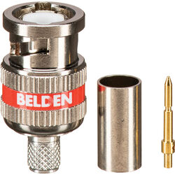 Belden 1505A/RG59 3-Piece HD BNC Crimp Connector with Red Band