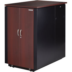 Black Box QuietCab 24 RU Acoustic Cabinet (Walnut)