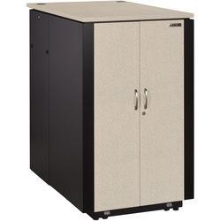 Black Box QuietCab 12 RU Acoustic Cabinet (Light Gray)
