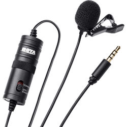 Polsen MO-IDL2 Dual Lavalier Condenser Microphones with DSLR//Smartphone Switch