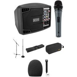 """Polsen 5"""" 150W Portable Single-Mic PA System Kit"""