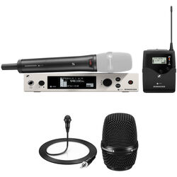 Sennheiser ew 300 G4-Base Combo Wireless Microphone System with ME 2-II Lavalier and MMD 835 Dynamic Capsule Kit (AW+: 470 to 558 MHz)