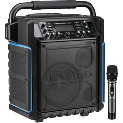 Denon Commander Sport Portable Water-Resistant 120W All-In-One PA System with Wireless Handheld Microphone
