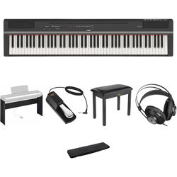 Yamaha P-125 88-Note Digital Piano with Home/Studio Kit (Black)