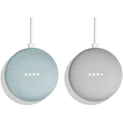 Google Home Mini Pair Kit (One Aqua, One Chalk)
