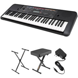 Yamaha PSR-E263 Keyboard Kit with Stand, Bench, and Power Adapter
