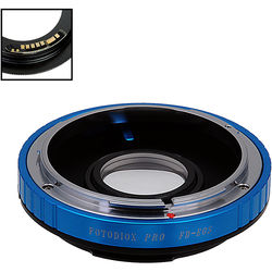 FotodioX  Pro Lens Mount Adapter with Generation v10 Focus Confirmation Chip for Canon FD-Mount Lens to Canon EF or EF-S Mount Camera