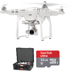 DJI Phantom 3 Advanced with 2.7K Camera Bundle with Hard Case and 32GB SD Card