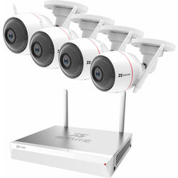 ezviz 8-Channel 1080p Wi-Fi NVR with 1TB HDD & 4 1080p Wi-Fi Outdoor Night Vision Bullet Cameras