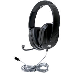 HamiltonBuhl MACH-2 Multimedia USB Type -C Headset with Gooseneck Microphone