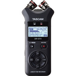 Tascam DR-07X 2-Input / 2-Track Portable Audio Recorder with Onboard Adjustable Stereo Microphone