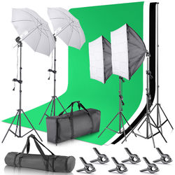 Neewer 4-Light Kit with Background Support System