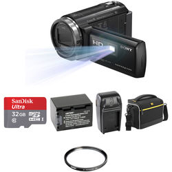 4df0c602060a4d Sony HDR-PJ540 Full HD 32GB Camcorder with Built-In Projector Basic Kit