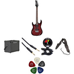 Ibanez GRX70QAL GIO Series Left-Handed Electric Guitar Kit with Blackstar ID:Core Amplifier, Cable, Tuner & Strap