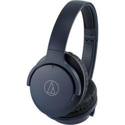 Audio-Technica Consumer ATH-ANC500BT QuietPoint Wireless Over-Ear Noise-Canceling Headphones (Navy)