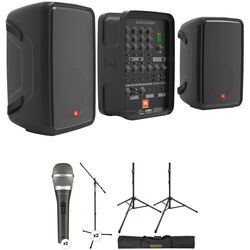 JBL EON208P Stereo PA and Dual Microphones Kit 6d17748fbc79d