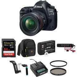 Canon EOS 5D Mark IV DSLR Camera with 24-70mm f/4L Lens Video Kit