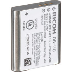 Ricoh DB-110 Rechargeable Lithium-Ion Battery (3.6V, 1350mAh)