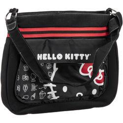 470025214 Vivitar Hello Kitty Canvas Messenger Bag (Black)