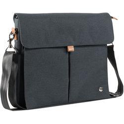 PKG International City Slim Messenger Bag (Dark Grey)