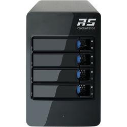 HighPoint RocketStor 6314B 4-Bay Thunderbolt 2 RAID Enclosure with Thunderbolt 3 Adapter