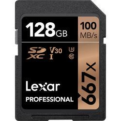 Lexar 128GB Professional 667x UHS-I SDXC Memory Card