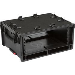 SKB Injection-Molded 4-RU Studio Flyer Rack Case