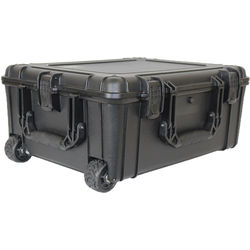 """Condition 1 25"""" XL Rolling Hard Case Trunk with Foam #287 (Black)"""
