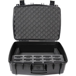 Williams Sound Large Water Resist CarryCase,15 Slot Foam Insert f/PPA T46 Transmitter,FM,IR,Loop BodyPack Receivers