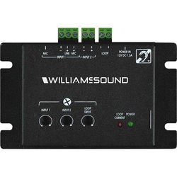 Williams Sound Counter Loop Amplifier (2 Amp RMS Output) with Surface Mic