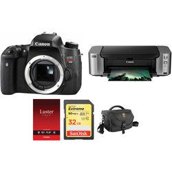 Canon EOS Rebel T6s DSLR Camera Body with PIXMA PRO-100 Printer Kit