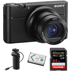 Sony Cyber-Shot RX100 VA Digital Camera with Grip Kit