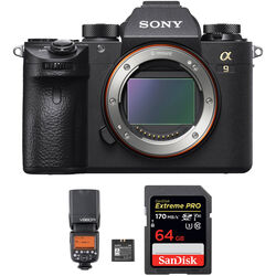 Sony Alpha a9 Mirrorless Digital Camera Body and Flash Kit