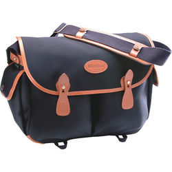 Billingham Packington Shoulder Bag (Black with Tan Leather Trim)