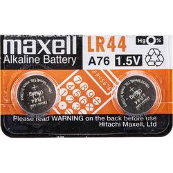 Maxell LR44 Alkaline Cell Batteries (1.5V, 2-Pack)